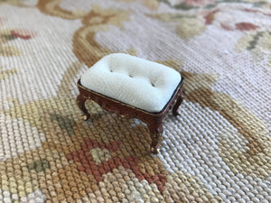 Stool Seat Ottoman Leather SPECIAL ORDER 1:12 Dollhouse Miniature