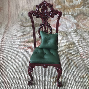 Bespaq Chair Seat Leather with Pillow 1:12 Dollhouse Miniature