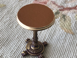 Table Stand Leather Top 1:12 Scale Dollhouse Miniature