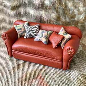 Sofa Couch Lounge Divan Settee Leather with Pillows