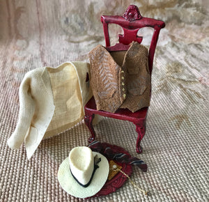 Valet Chair Dressed with Wearable Clothing Outfit Collection Male Heidi Ott 1:12 Dollhouse Miniature