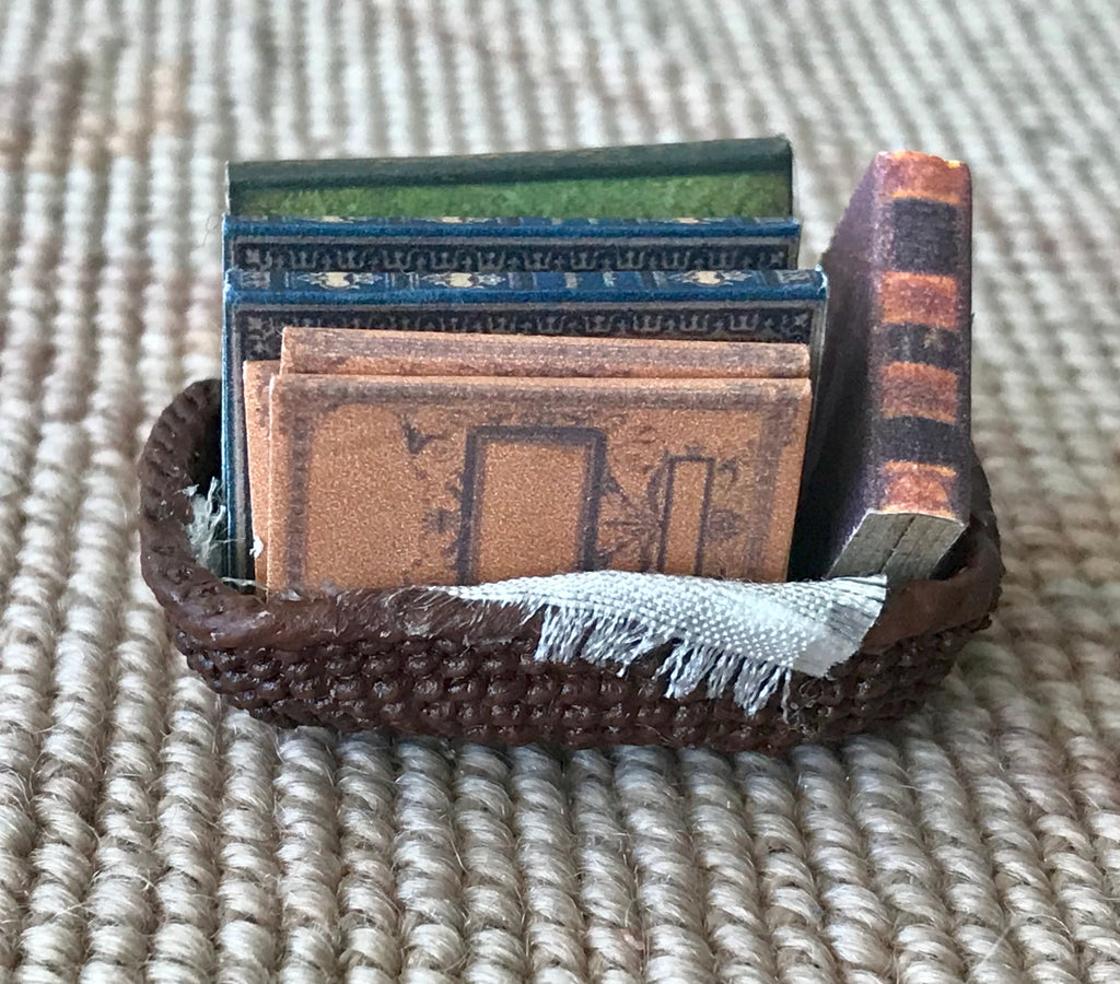 Wicker Basket Tray Dressed 1:12 Dollhouse Miniature