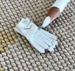 Gloves Leather Short White 1:12 Dollhouse Miniature