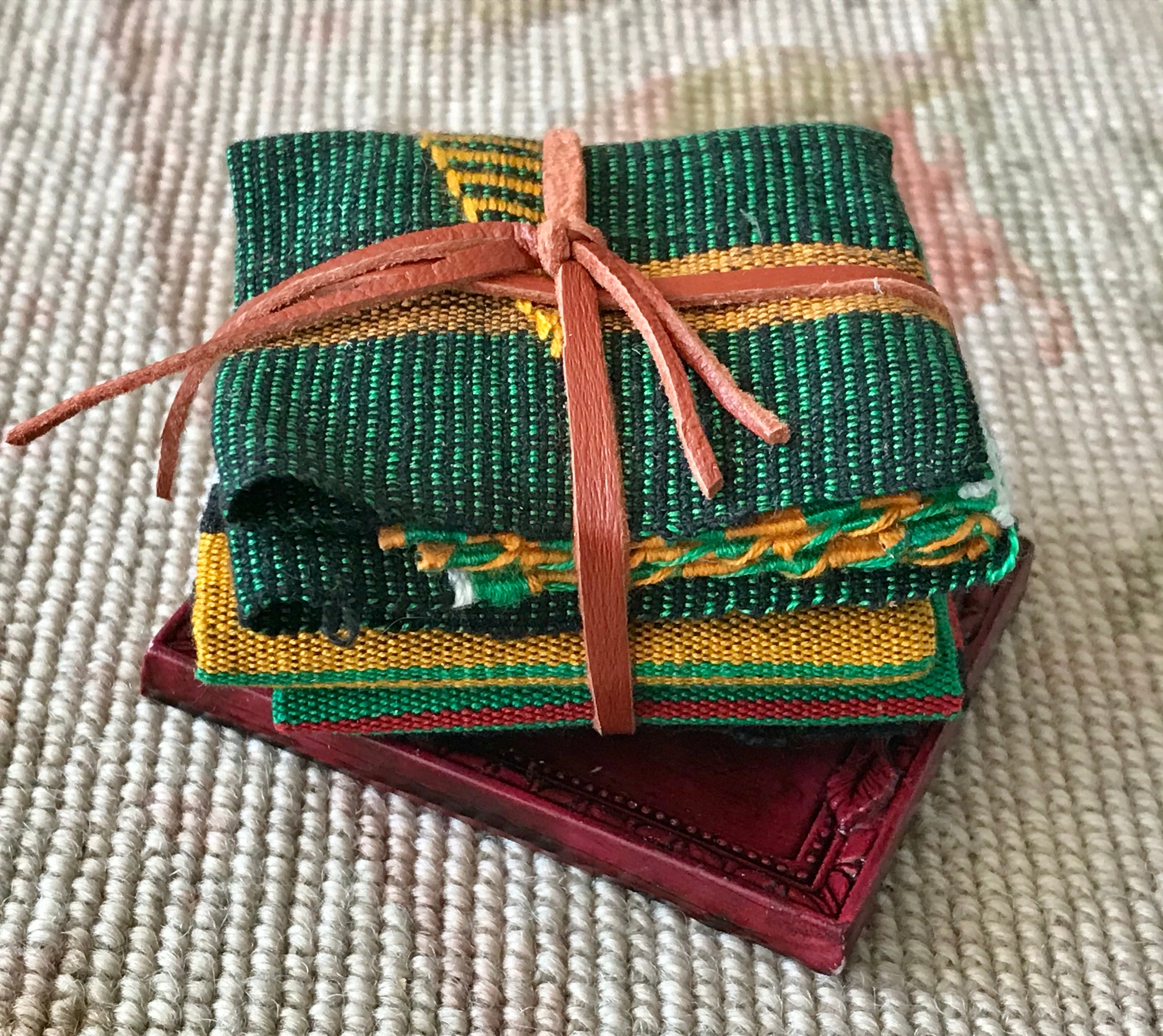 Tray Dressed With African Cloth Blankets 1:12 Dollhouse Miniature