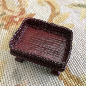 Table Basket Wicker Container 1:12 Dollhouse Miniature