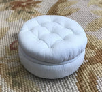 Copy of Stool Ottoman Seat Leather 1:12 Dollhouse Miniature