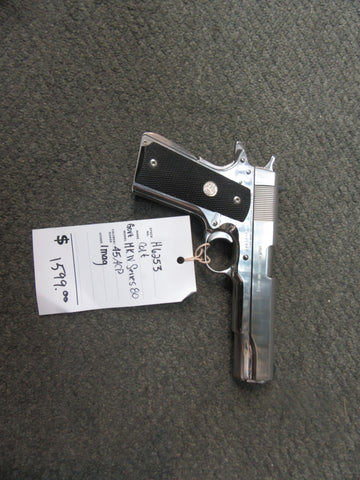 H6253 - Colt Government MK IV Series 80 Stainless 45 acp.