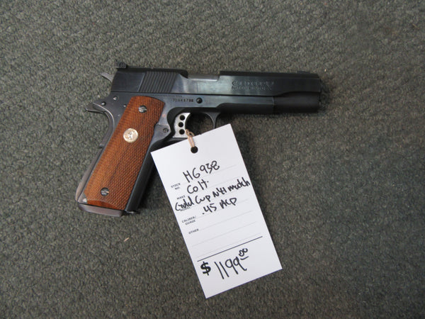 H6938 - Colt Gold Cup National Match Series 80 MK IV 45 ACP