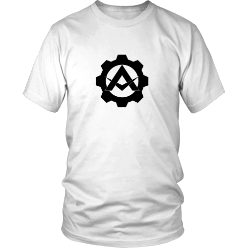 Alpha Gear Barbell Skull White Shirt