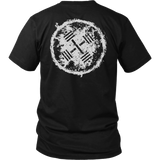 Alpha Gear - Barbell Crossed - White Logo