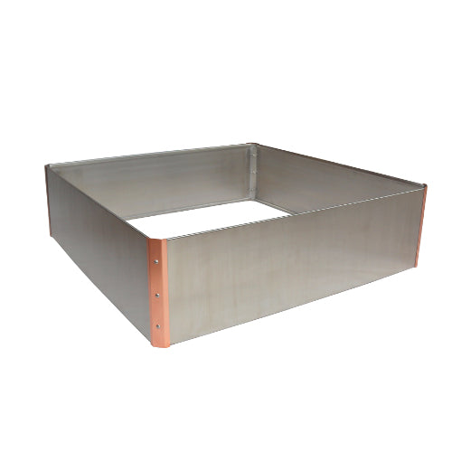 Stainless Steel and Copper Raised Garden Bed - Square