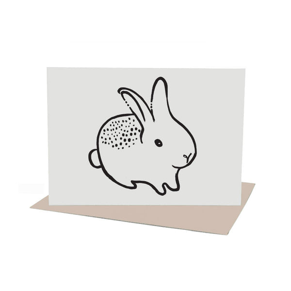 Bunny Greeting Card with Envelope