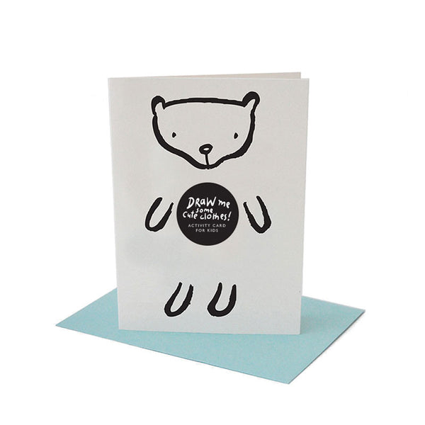 Dress Up Bear Greeting Card with Envelope