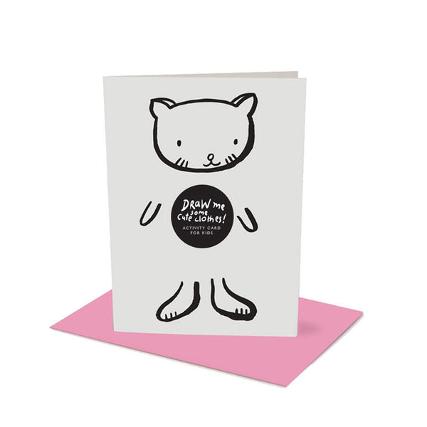 Dress Up Cat Greeting Card with Envelope
