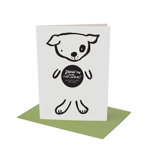 Dress Up Dog Greeting Card with Envelope