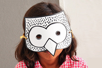 Color-in Owl Mask