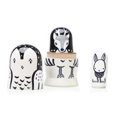Set of 3 Nesting Dolls - Woodland Creatures