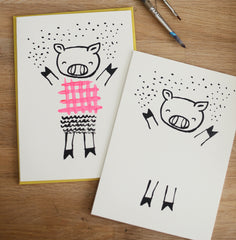 Dress Up Pig Greeting with Envelope