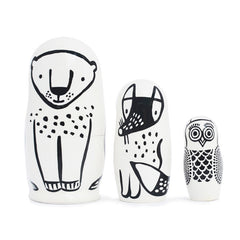 Set of 3 Nesting Dolls - Forest Friends
