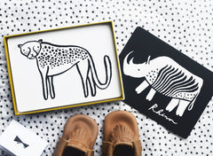 Art Cards for Baby - Safari Collection