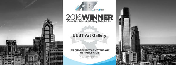 CITYVOTER: WE WON BEST ART GALLERY IN PHILLY 2016!