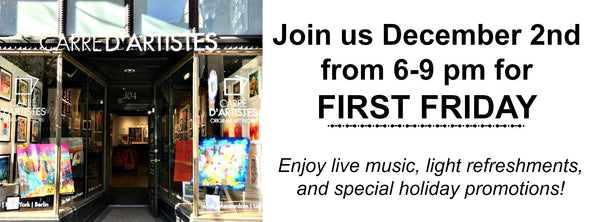 DECEMBER'S FIRST FRIDAY with CARRE D'ARTISTES PHILADELPHIA