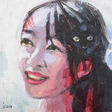 CHINESE GIRL WITH CAT TILAA130