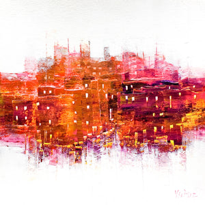VILLAGE EN ROSE ET ORANGES FIVEA613