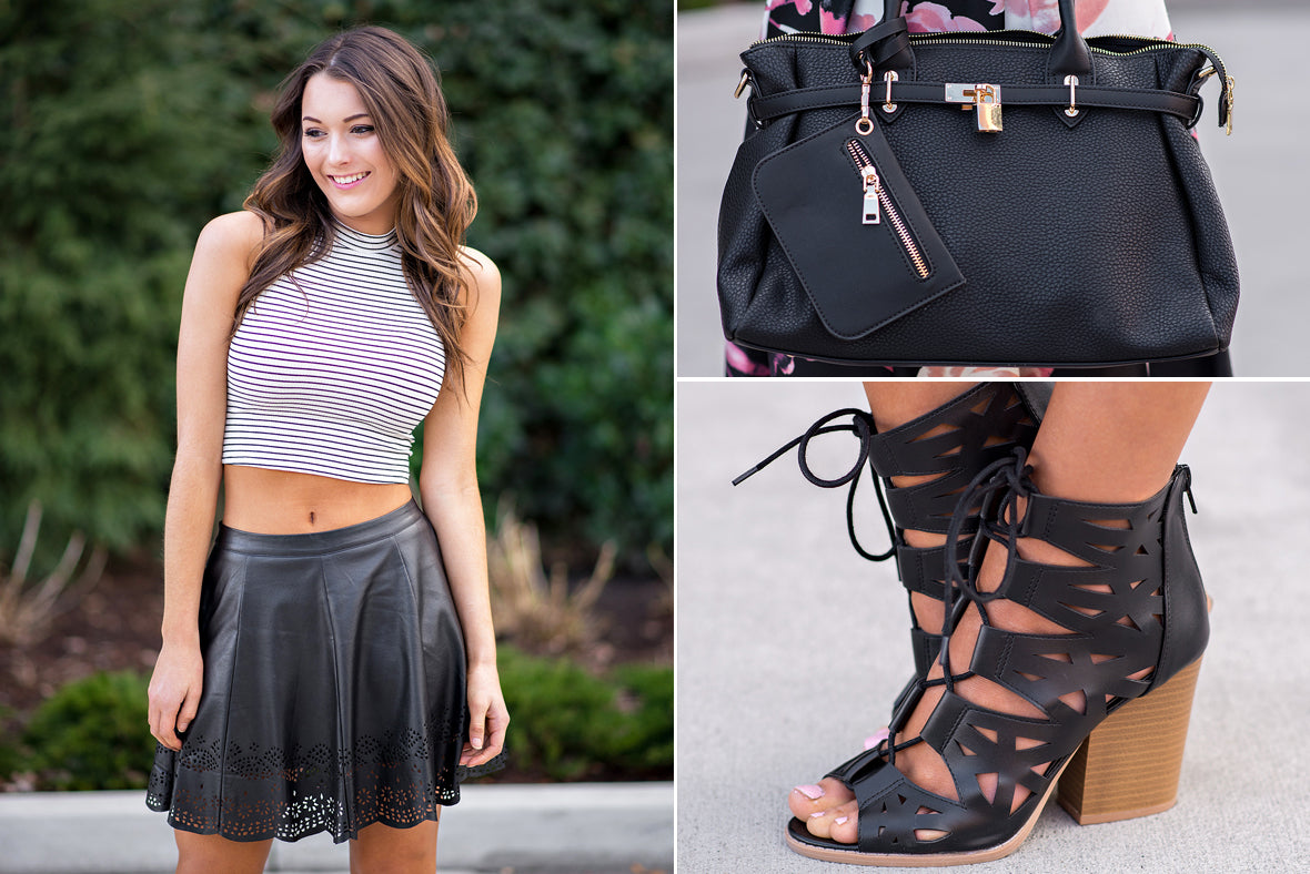 Spring crop tops and sandals