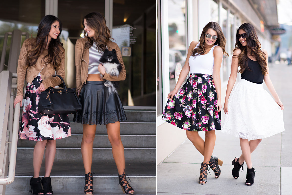 spring look book skirts