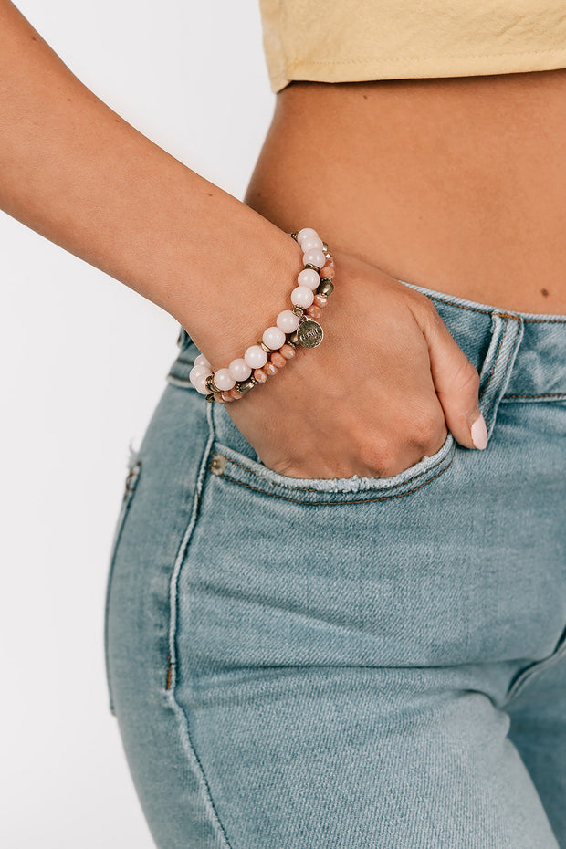 Be Still Bracelet Set (Pink) - NanaMacs