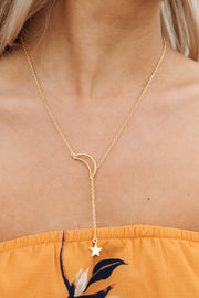 Ancient Love Lariat Necklace (Gold) - NanaMacs