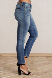 Won't Go Relaxed Fit Jeans (Medium Wash) - NanaMacs