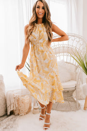 Reason To Smile Palm Print Maxi Dress (Tropical Print) - NanaMacs
