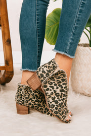 Party Animal Open Toe Booties (Leopard) - NanaMacs