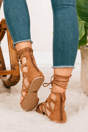 At A Moments Notice Gladiator Flats (Camel) - NanaMacs
