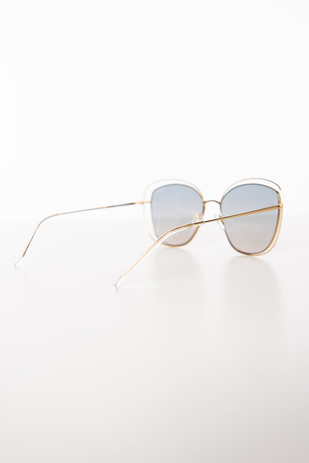 Golden Girl Oversized Freyrs Sunglasses (Gold,Silver) - NanaMacs