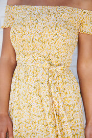 Lazy Daisy Floral Maxi Dress (Yellow)