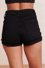 Life Changing High Waisted Shorts (Black) - NanaMacs