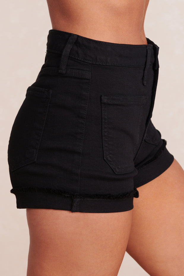 Life Changing High Waisted Shorts (Black)