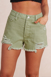 Envy Me High Waisted Shorts (Olive)