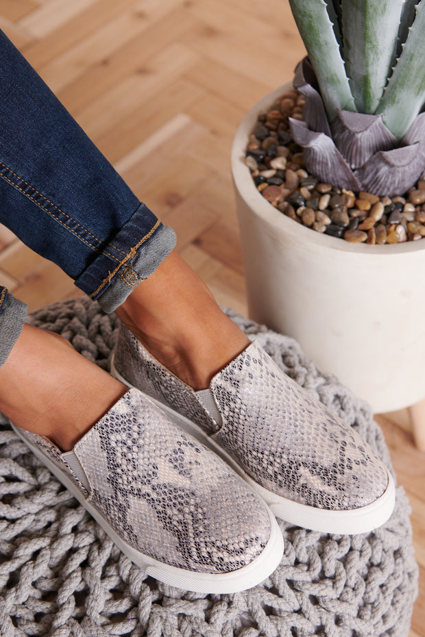 Meant For You Sneakers (Beige Python)