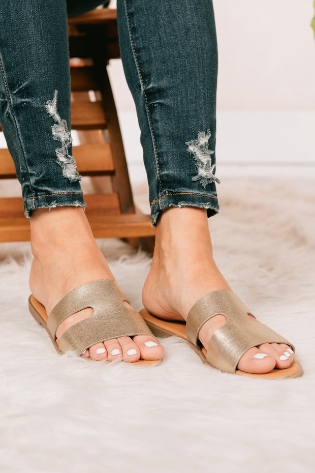 Chill Time Slip On Sandals (Gold) - NanaMacs