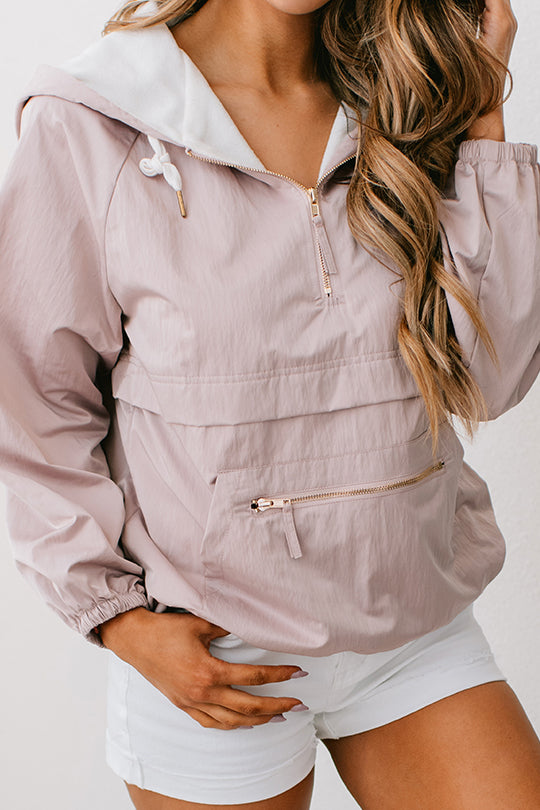 All Love Windbreaker Jacket (Pale Mauve) - NanaMacs
