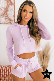 Dressed To Chill French Terry Two Piece Set (Lavender) - NanaMacs