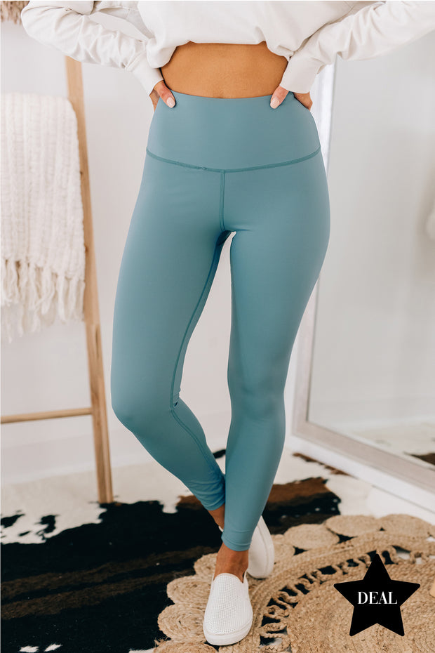 Game Over High Rise Leggings (Blue) - NanaMacs