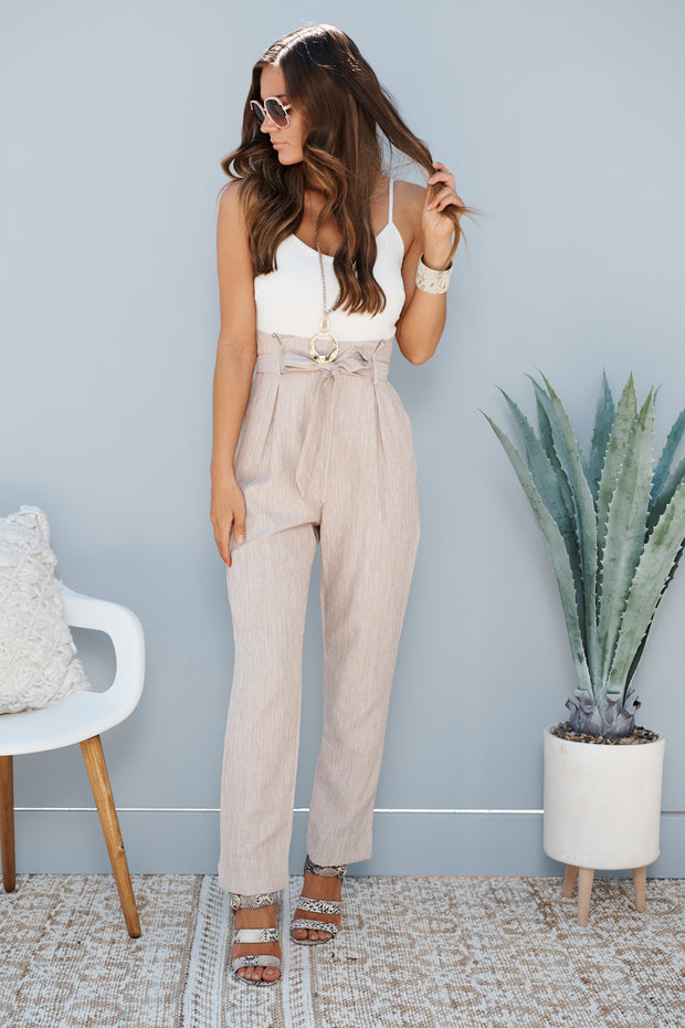 Office Crush Jumpsuit (Taupe)