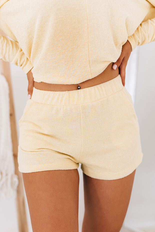 Spend Time Together Textured Two Piece Set (Mellow Yellow) - NanaMacs