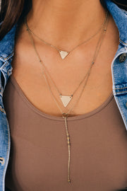Do It Better Layered Necklace (Antique Gold) - NanaMacs