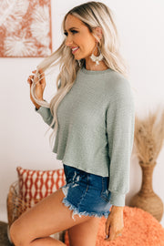 Commitment To Cool Textured Top (Sage) - NanaMacs